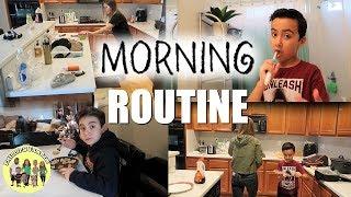 MORNING ROUTINE with 5 CHILDREN | KIDS MORNING ROUTINE FOR SCHOOL | PHILLIPS FamBam Vlogs