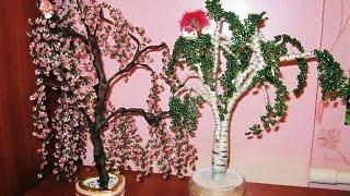 Обзор для начинающих  деревья из бисера своими руками