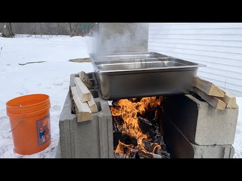 The Simplest Maple Syrup Sap Evaporator (But You Can Boil A Ton Of Sap With It!)