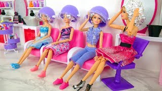 Rapunzel Barbie Dolls Makeover! Barbie Sparkle Style Salon kecantikan Boneka Barbie Friseursalon
