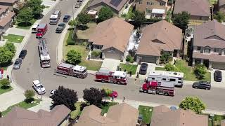 Bermuda Ln Dual Structure Fire in Manteca