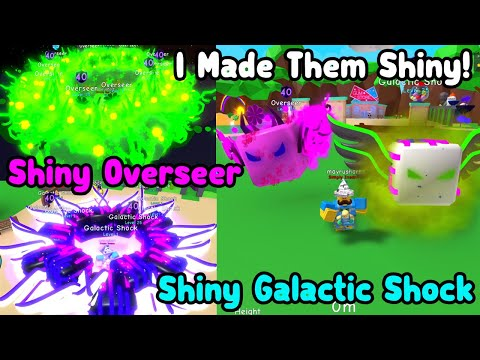 I Made Shiny Overseer & Shiny Galactic Shock! - Bubble Gum Simulator Roblox