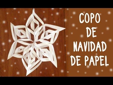 Adornos navide os copos de nieve de papel youtube for Adornos de oficina para navidad