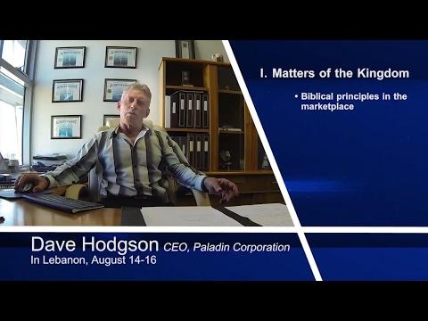 Kingdom Strategy Conference 2015 David Hodgson