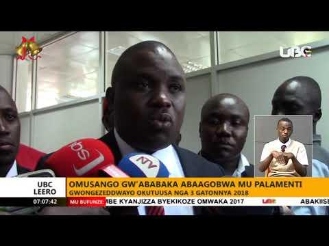 Okujjawo ekkomo ku myaka gya pulezidenti: Ababaka b'e Luwero ne Nakasongola tebejjusa ku kiteeso