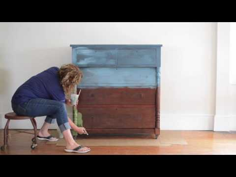 hand painted landscape dresser | part one