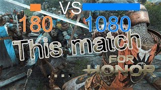 For Honor gameplay - Dominion 180 - 1080. This match for honor