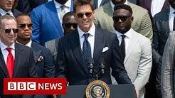 Brady, cracks, election, results, joke, White, House, News, BBC news, bbc latest news, current affairs, bbc update, bbc reports, bbc updated news, america latest news, washington news, president news, global news, Tom Brady cracks election results joke at White House - BBC News