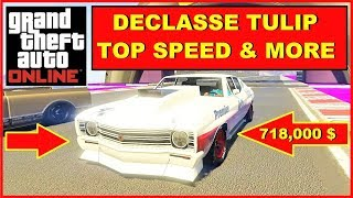 GTA Online fastest Muscle Cars Declasse Tulip TOP SPEED TEST & more, Laptime , Gameplay
