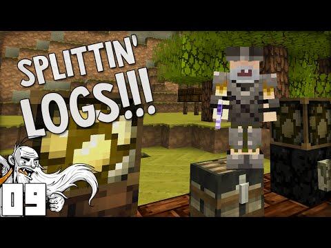 """I'M SPLITTIN' LOGS ALL DAY!!!"" Minecraft Vanilla Survival Part 9"