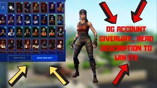 🔴OG FORTNITE ACCOUNT GIVEAWAY!!!!! | READ DESCRIPTION TO ENTER