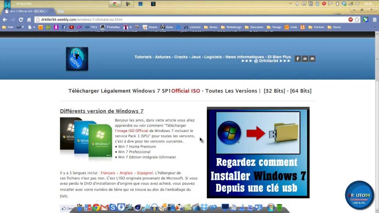 telecharger windows 7 iso avec clé dactivation