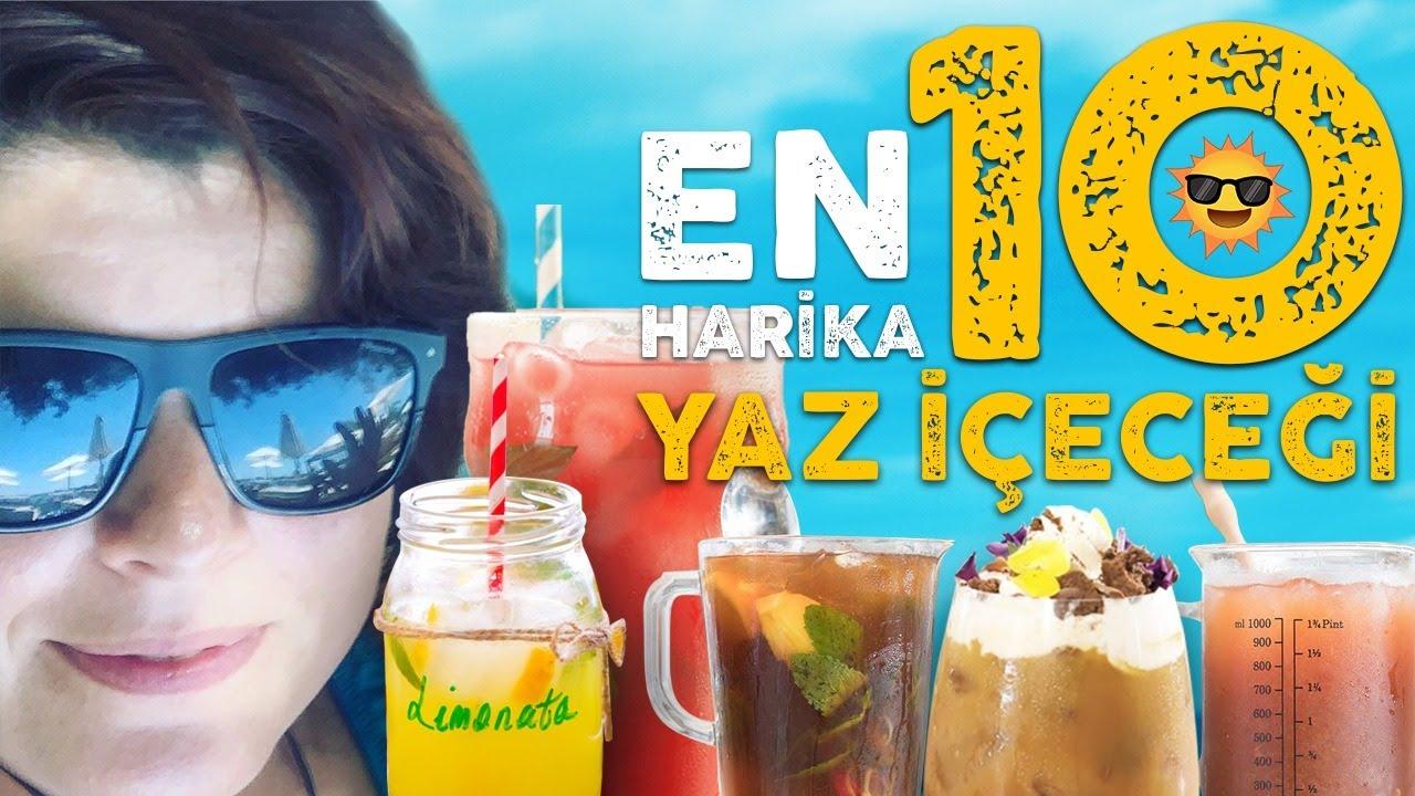 ⛱️☀️EN Harika 10 YAZ İÇECEĞİ Tarifi 🍋 Limonata🍹Cool Lime 🌱Soğuk Çay Soğuk Kahve ve Daha Fazlası