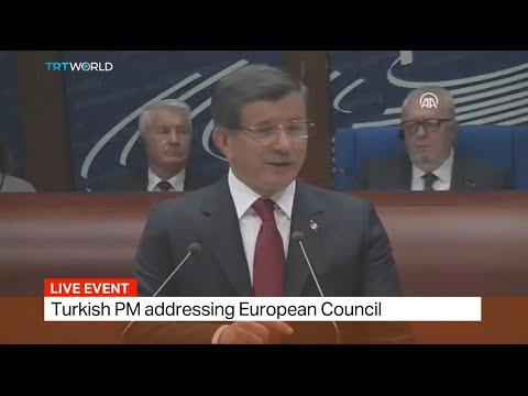 Turkish PM Davutoglu addresses European Council