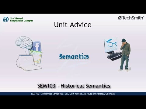 SEM103 - Unit Advice (Historical Semantics)