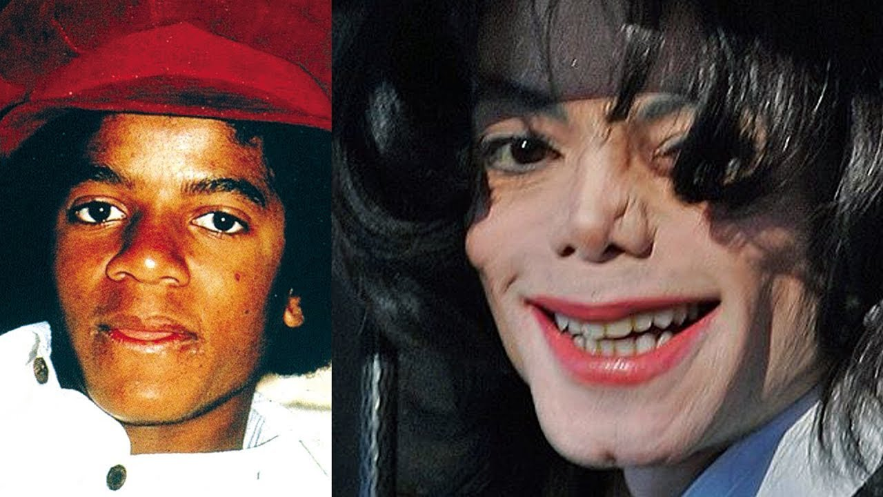 michael jackson transformation from 3 to 50 years old