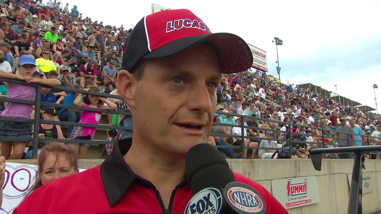 2018 Dodge Mile High Nationals Top Dragster winner Rick Milinazzo