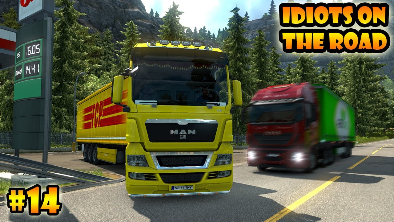 idiots on the road 14 ets2mp funny moments euro. Black Bedroom Furniture Sets. Home Design Ideas
