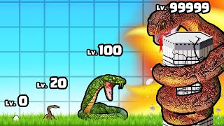 I Grew the BIGGEST LEVEL SNAKE in Idle Snake #2