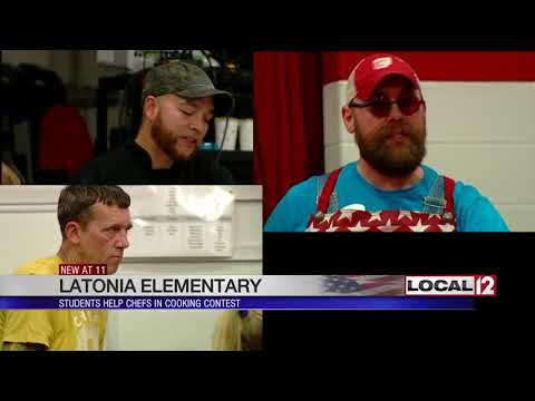 "Latonia Elementary students help chefs in ""Chopped"" cooking contest"