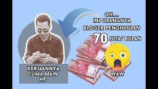 Blogger  70 JUTA /BULAN    Duit Adsense    uang dari Blog    Uang dari Internet