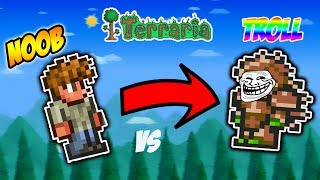 Terraria Trolling - The OP Noob