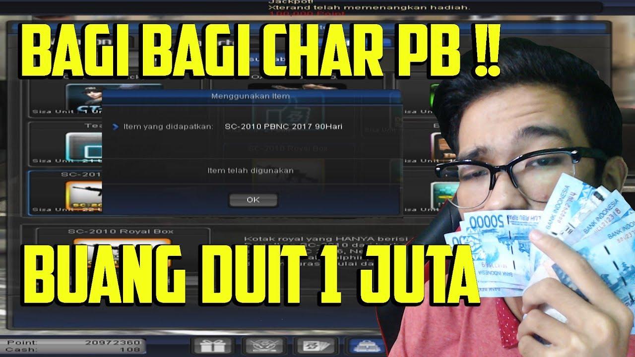 Buka Gacha 1 Juta Rupiah Bagi Bagi Char Gratis Sultan Santuy Ini Bosku Point Blank Garena Youtube