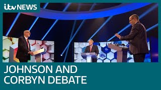 Johnson and Corbyn clash on Brexit in TV head-to-head election debate | ITV News