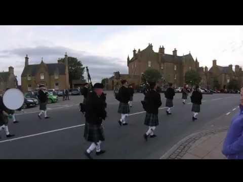 2016 09 03 Dornoch Pipe Band