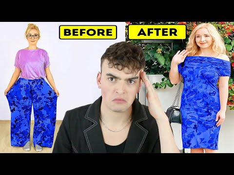 Fashion Expert Reacts To DIY Fashion Hacks (cutting up ugly clothes to make even uglier clothes)
