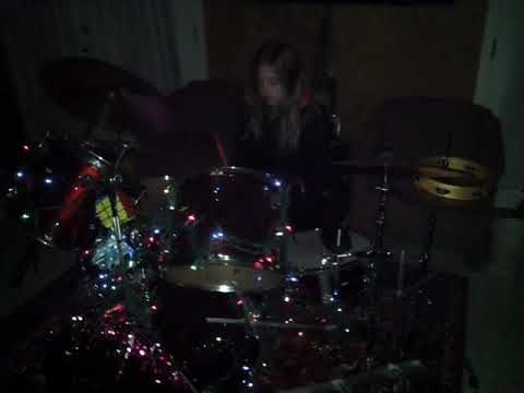 Happy New Year 2018 Miley & Lawrence IV on drums.