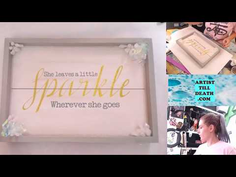 Turning a basic tray into a beautiful custom piece with resin and glitter