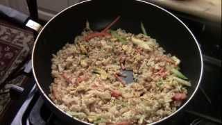 Chicken And Vegetables Fried Brown Rice
