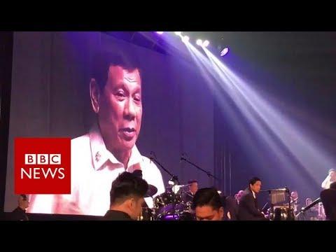 Philippines President Duterte sings duet 'on Trump's request' - BBC News