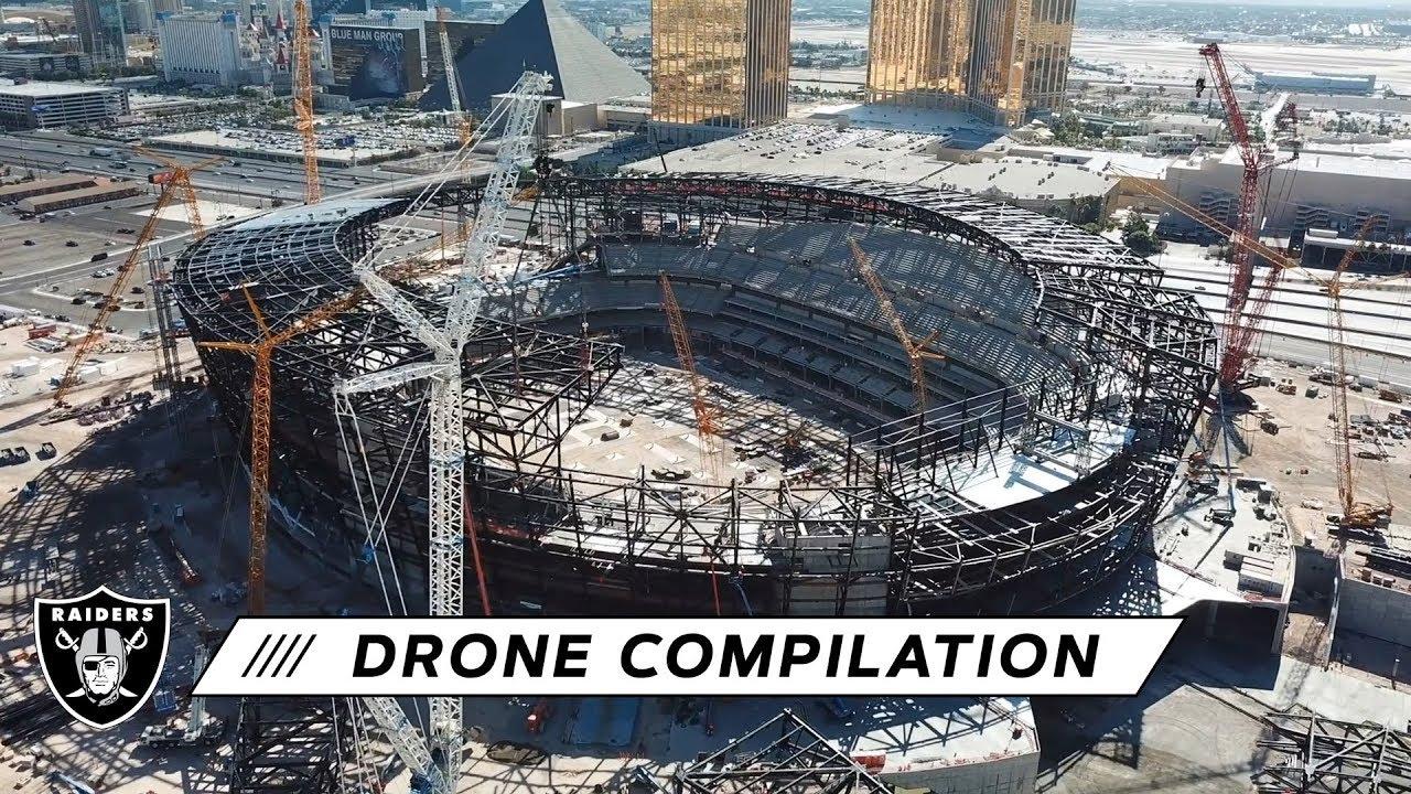Allegiant Stadium Construction Progress From Above Raiders Youtube