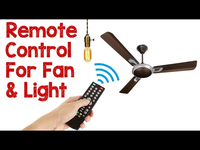 How To Control Fan And Light With Remote Remote Control Fan And Light Youtube