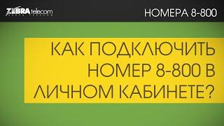 Подключение 8800 номера за 5 мин., в личном кабинете ЗебраТелеком(, 2016-02-02T13:49:53.000Z)