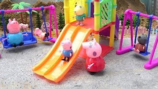 Peppa Pig Family FUN OUTDOOR PLAYGROUND Toys for Children