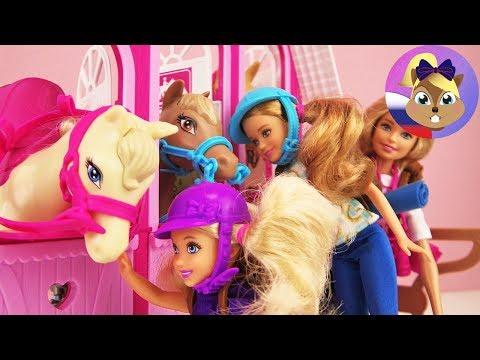 ИГРОВОЙ НАБОР BARBIE Лошади и ранчо | Набор Барби Mattel для верхновой езды C лошадьми