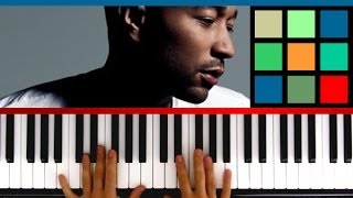 "How To Play ""All Of Me"" Piano Tutorial / Sheet Music (John Legend)"