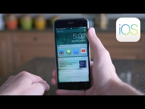 iOS 10 - Redesigned Lock Screen, Notification & Control Center!