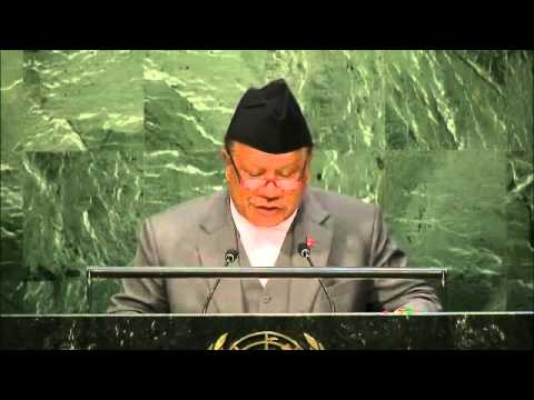 Nepal's Voice about freedom of transit at UNGA