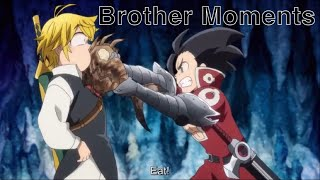 Meliodas and Zeldris Brotherly Moments (Funny) | The Seven Deadly Sins Movie: Cursed by Light