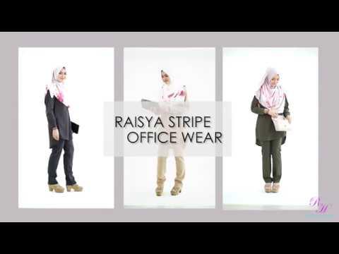Rayyan Haya Raisya Stripe OfficeWear & Straight Cut Office Pants