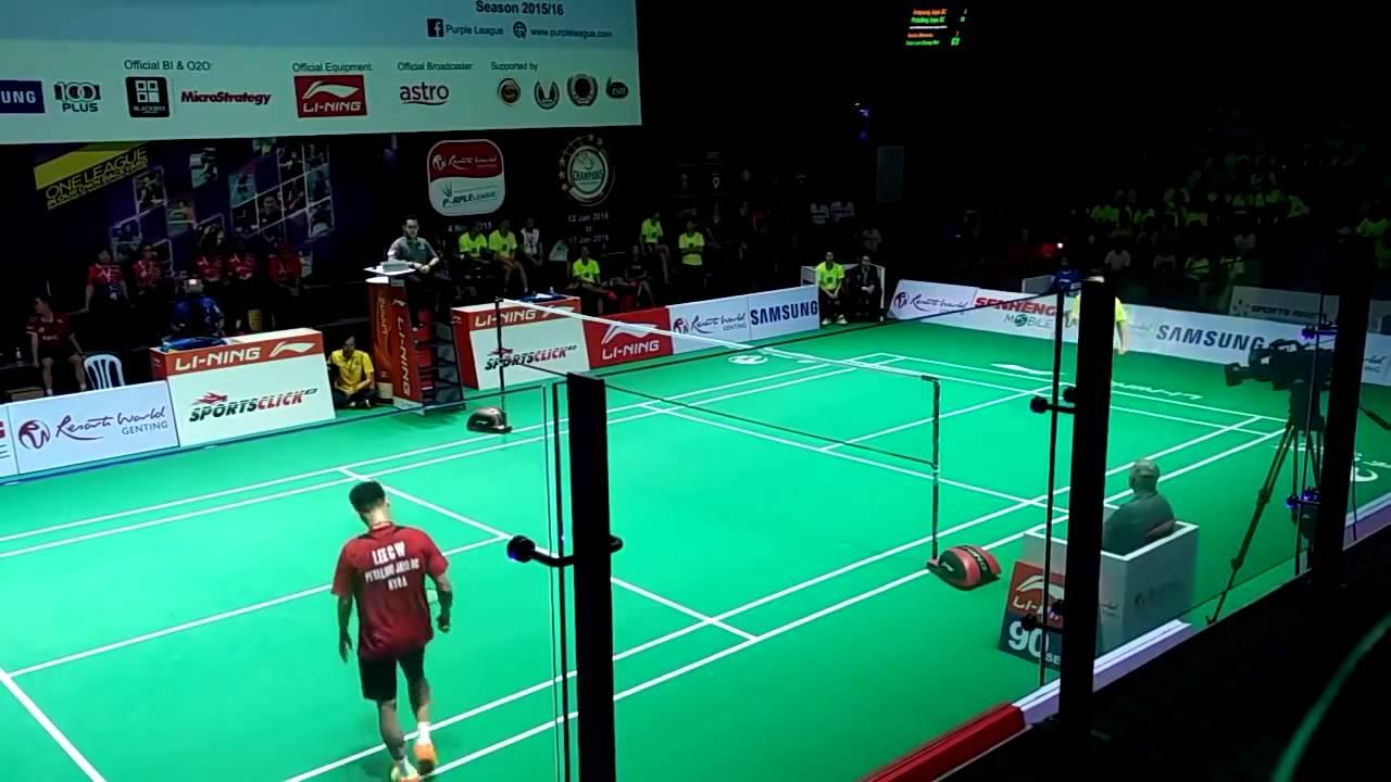 Lee Chong Wei vs Kento Momota Nice Camera Badminton Purple League 2016