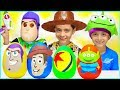 New Toy Story Play-Doh Surprise Eggs Kids Toys Disney Pixar Buzz Lightyear Woody Rex Movie Trailer