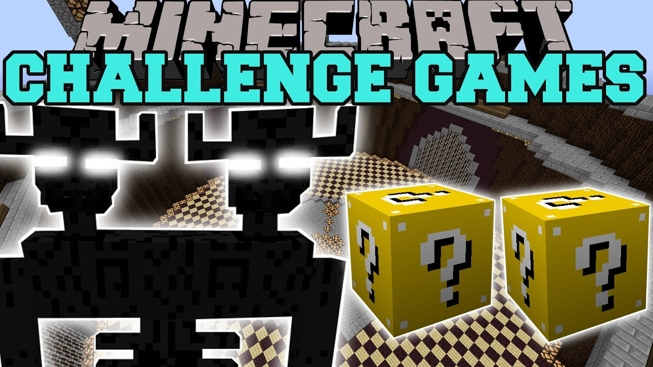 Minecraft mini games popularmmos with jen 2015 minecraft - Pat and jen lucky block challenge games ...