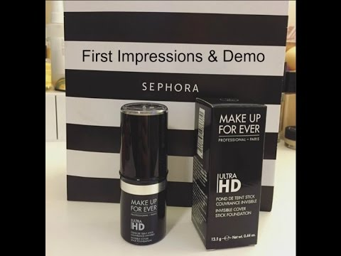 Makeup Forever Ultra Hd Stick Foundation Demo And First Impressions Mufe 115 R230