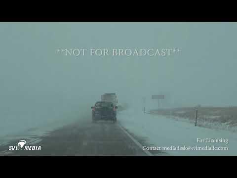 Grand Forks, North Dakota - Treacherous Travel On I-29 - February 18th, 2018