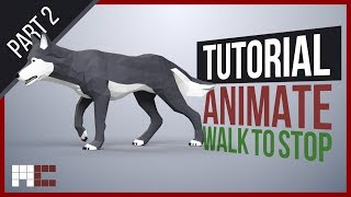 3ds Max CAT Animation Tutorial - Transition from Walk to Stand - Fixing Legs (Part 2/2)